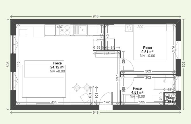 Plan 2D - rénovation appartement