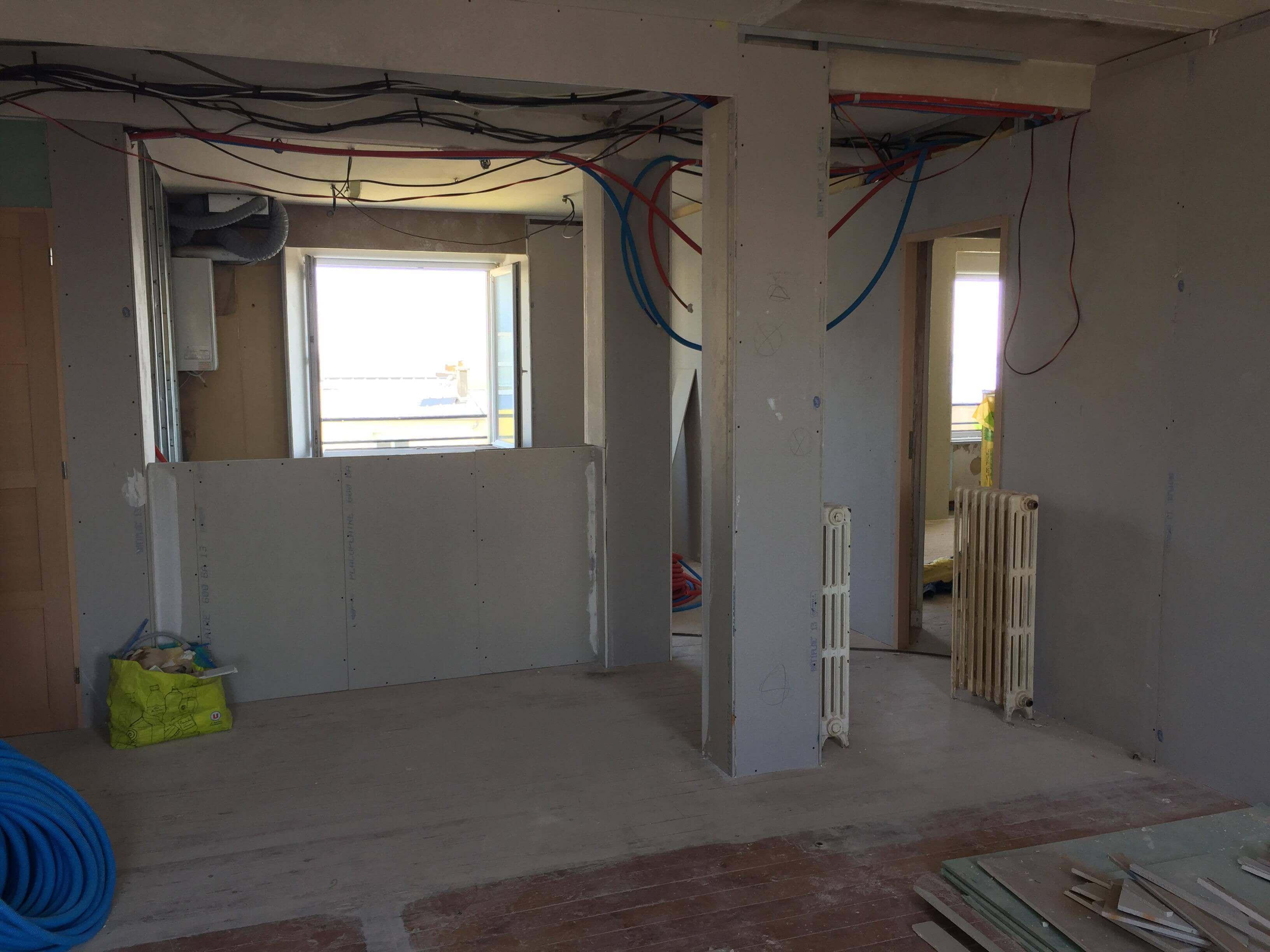 Rénovation couloir et cuisine ouverte