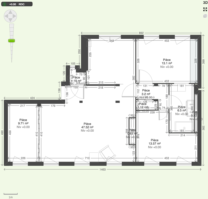 plan renovation 2d appartement 100 m2