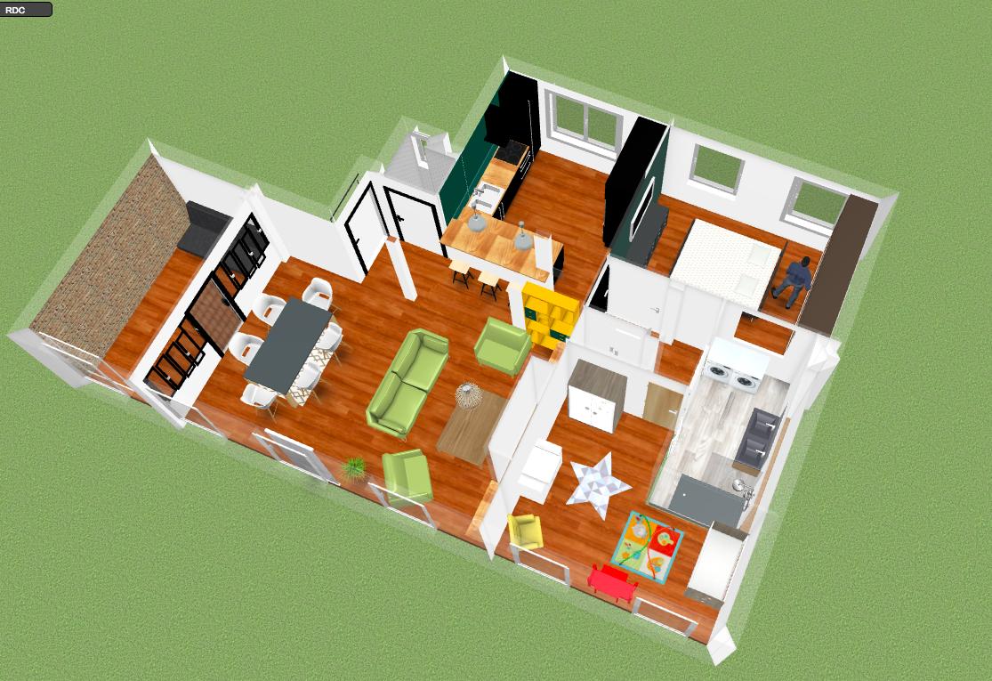 rénovation entière -plan 3D