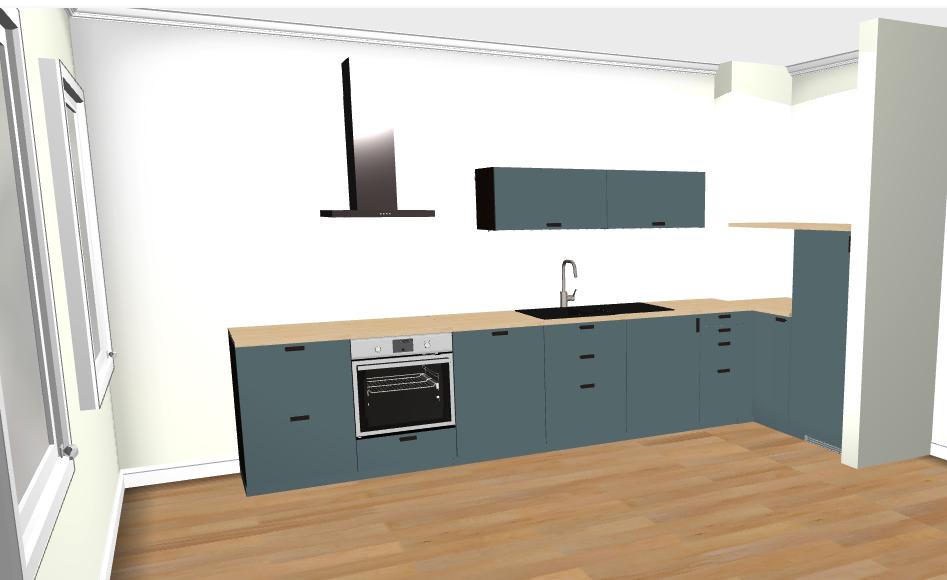 Plan 3D - Rénovation cuisine