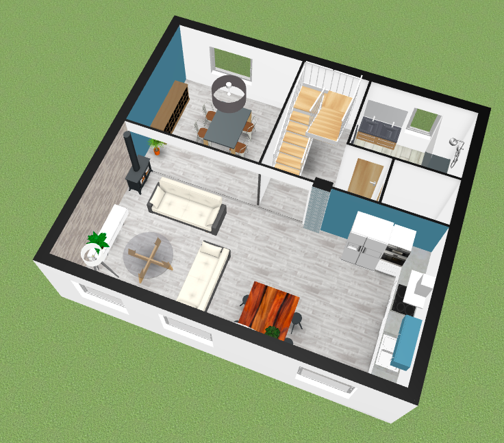 plan en 3D rénovation maison - Rénov In 3D