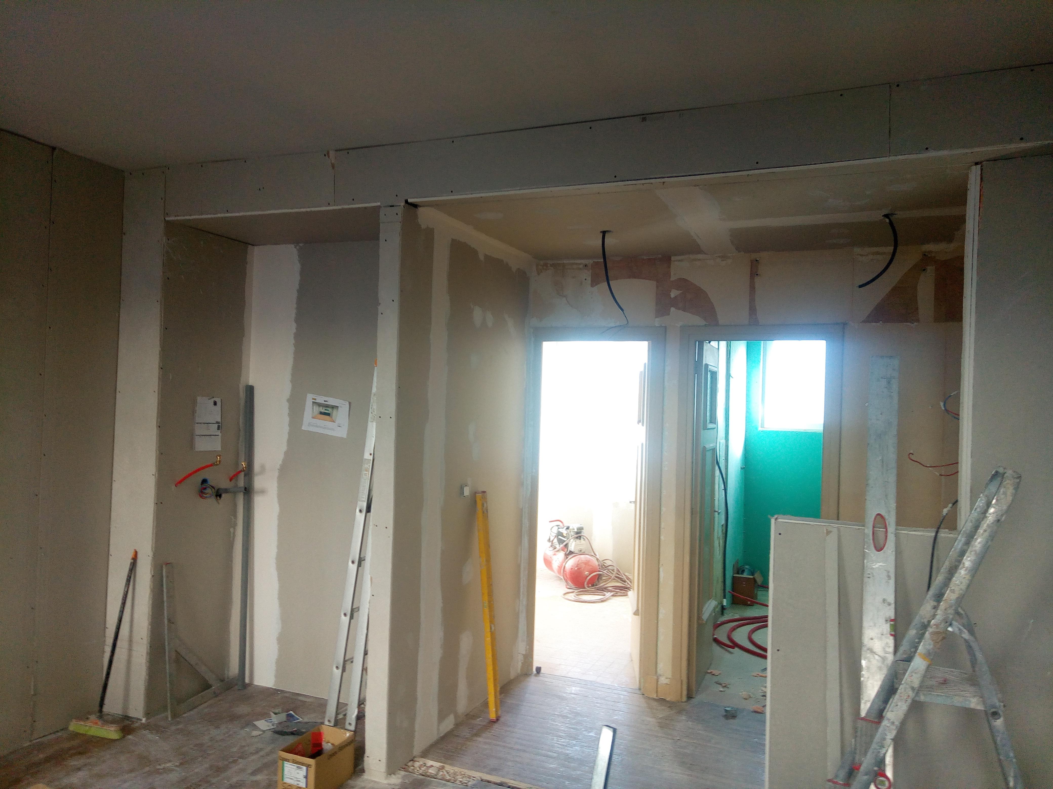 Architecte D Intérieur Brest projet de rénovation - appartement 45 m2 - pendant les