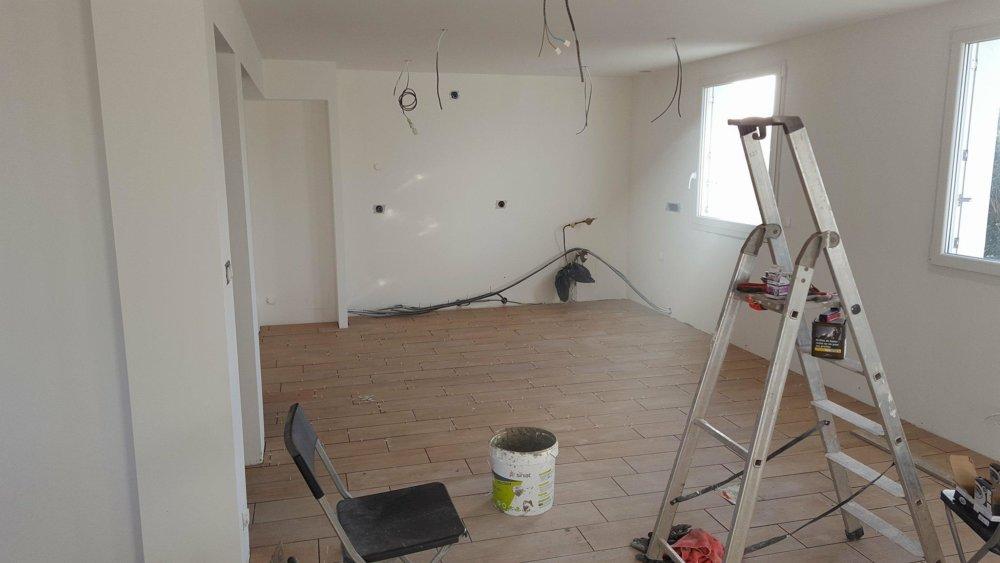 projet maison Roscoff - Cuisine - pendant travaux